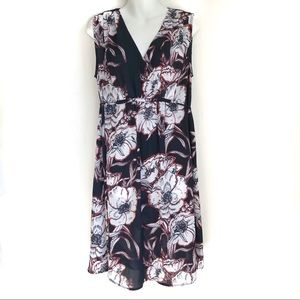Thyme Maternity Floral Sleeveless Dress Large